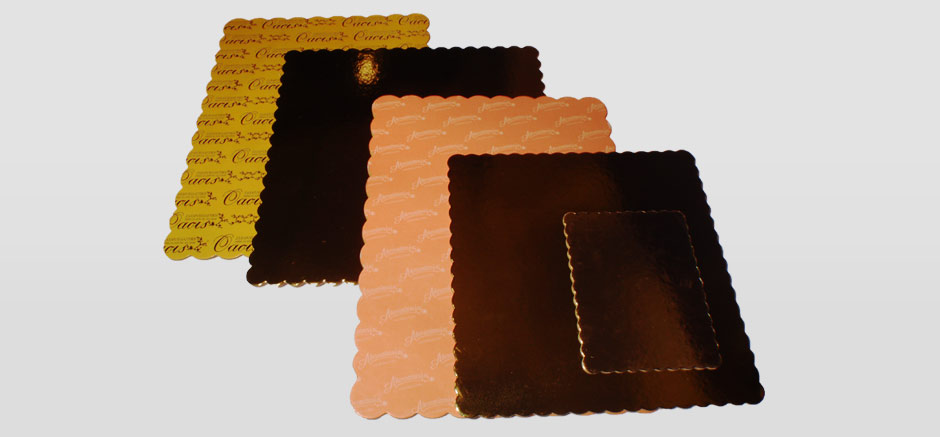 cake boards are available in silver and gold colour and in various shapes and sizes